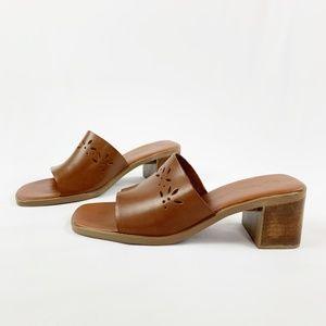MontegoBay Club Cutout Brown Leather Sandals